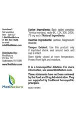 MediNatura BHI Arnica+ Tablets (100ct)
