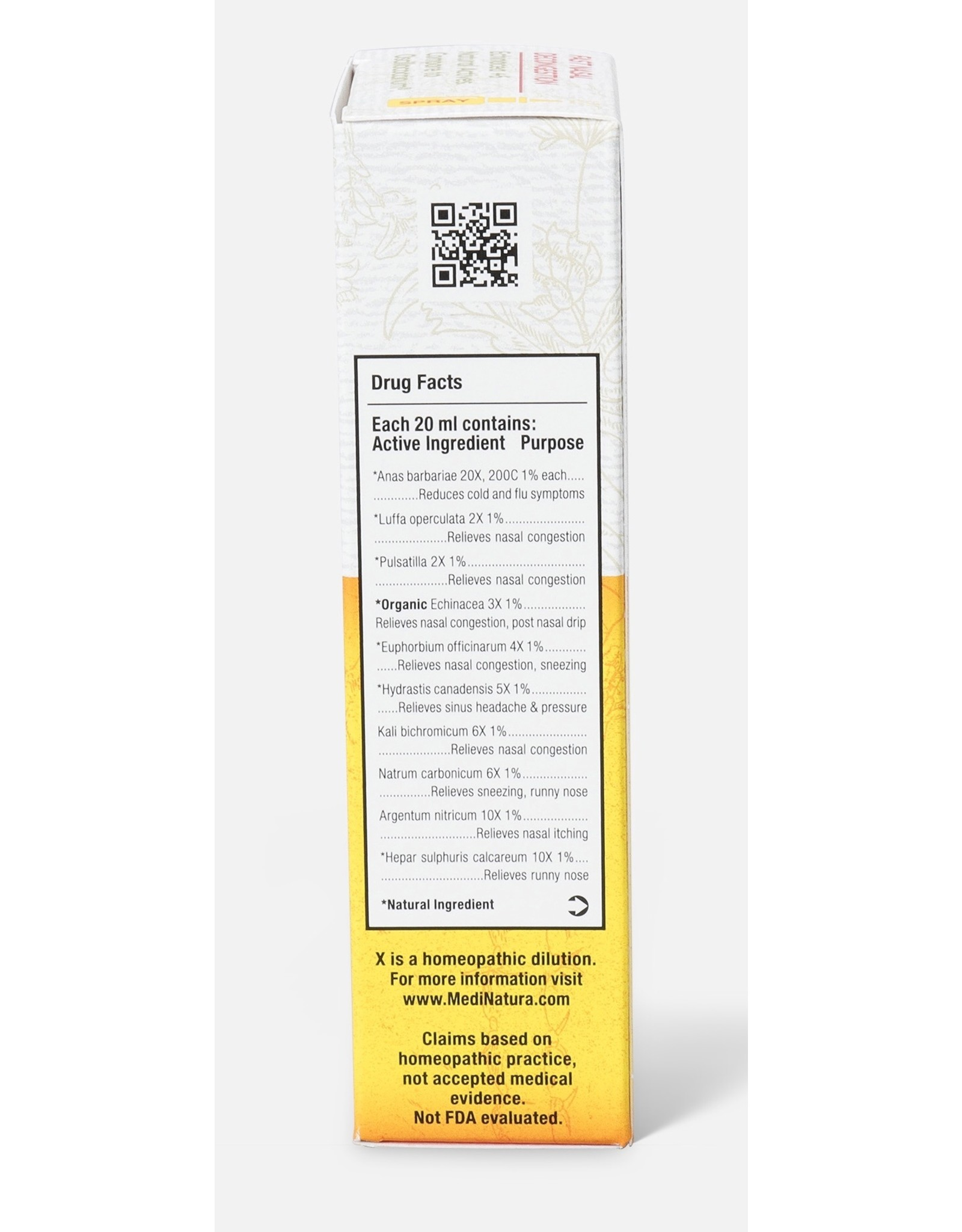 MediNatura ReBoost Echinacea +6 Nasal Spray (20ml)