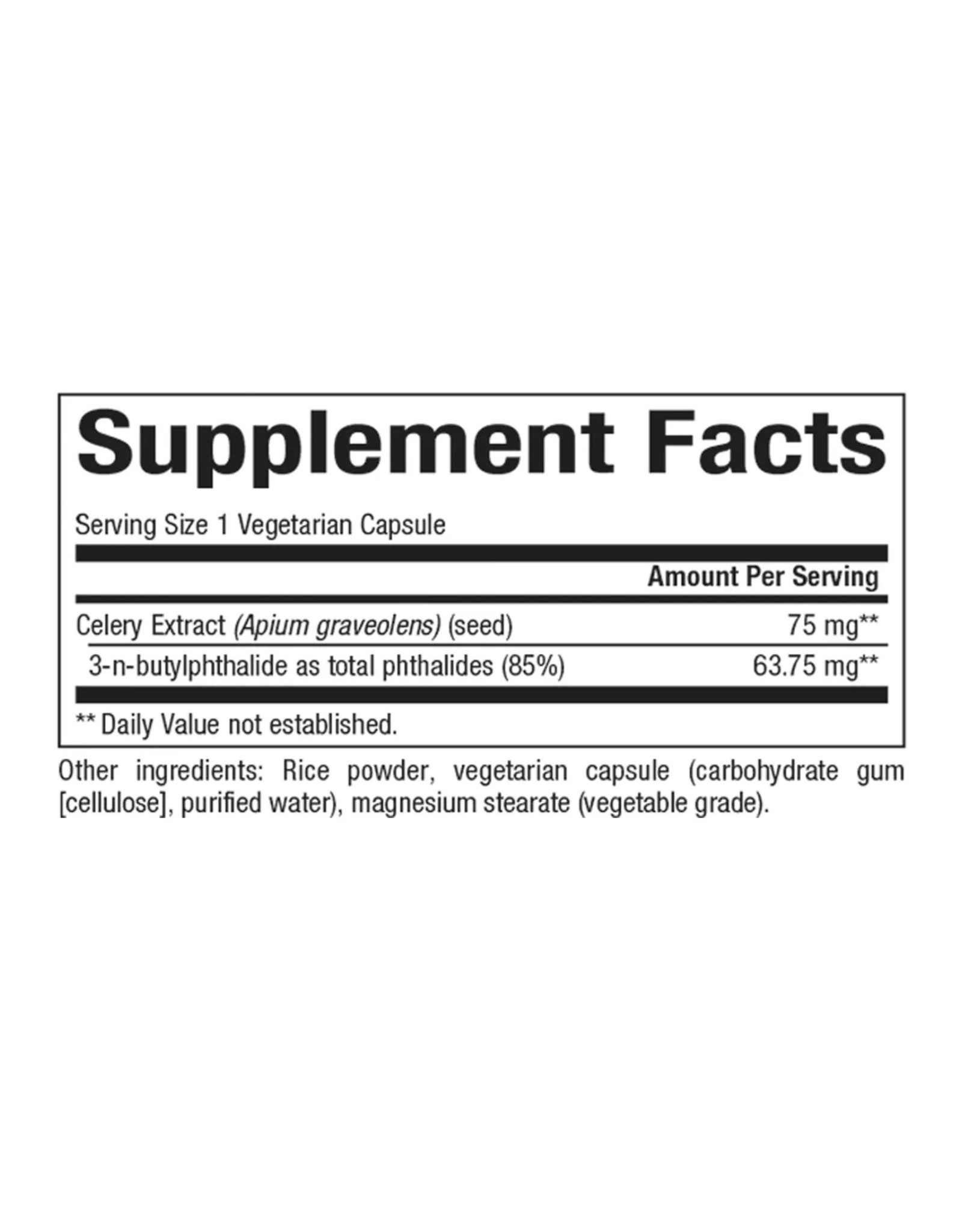 Natural Factors Celery Seed Extract 60/VCAP
