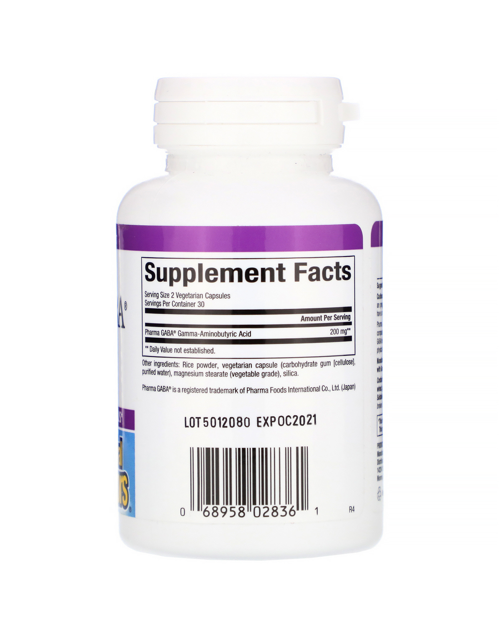 Natural Factors Stress-Relax Pharma GABA 60/VCAP