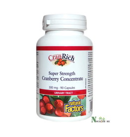 Natural Factors CranRich Cranberry Super Strength Concentrate 500mg 90ct