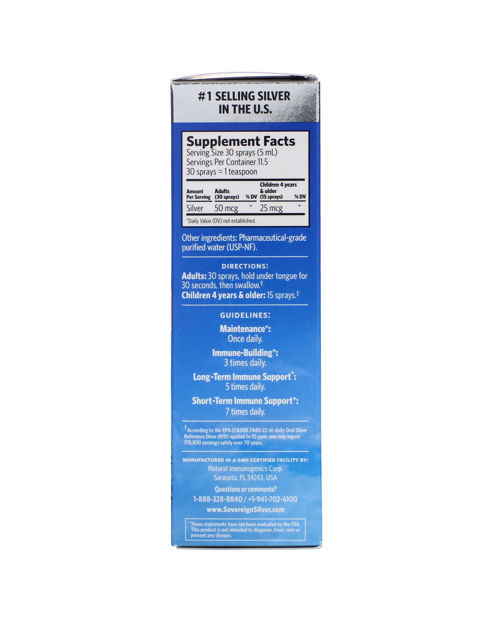 Sovereign Silver Bio-Active Silver Fine Mist Spray 2oz