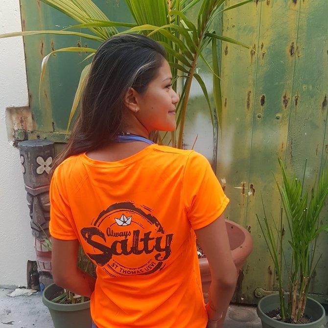 WOMEN ALWAYS SALTY SS SPF SHIRT