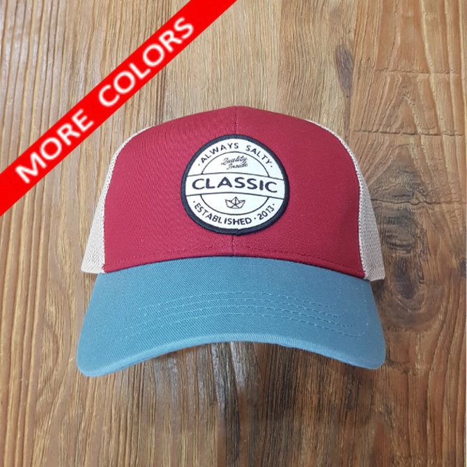 HIPSTER PATCH CURVE BRIM TRUCKER [TRI COLOR]