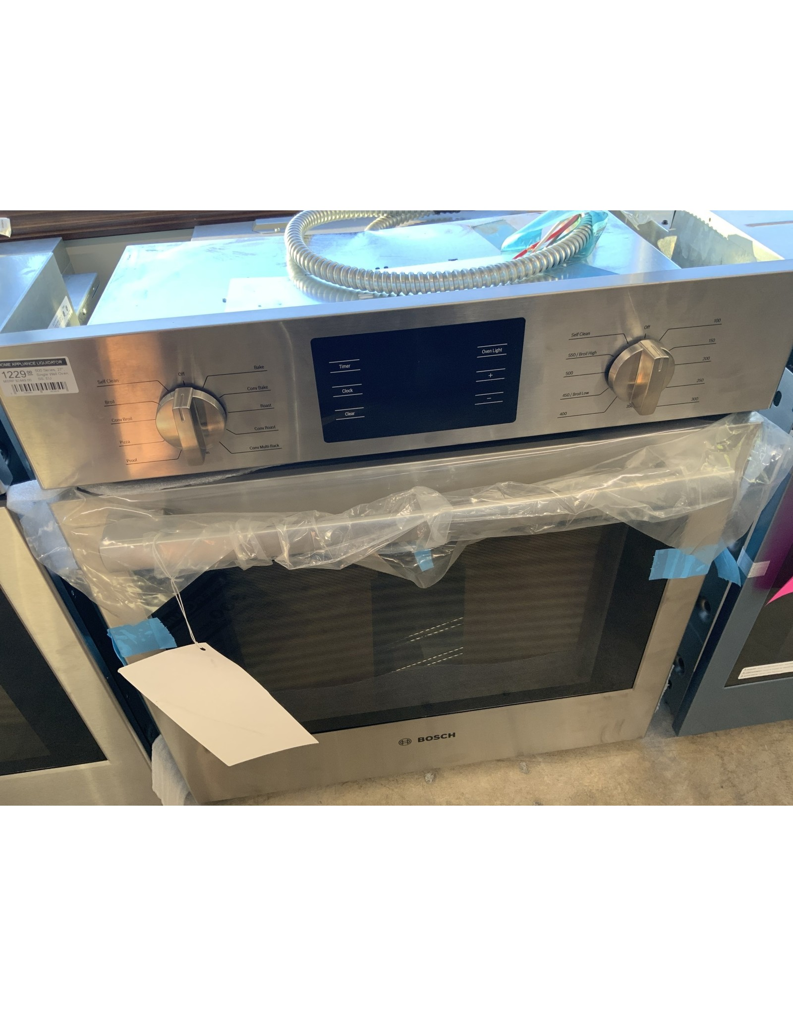 "Bosch Bosch 500 Series, 27"", Single Wall Oven, SS, EU Convection, Knob Control"