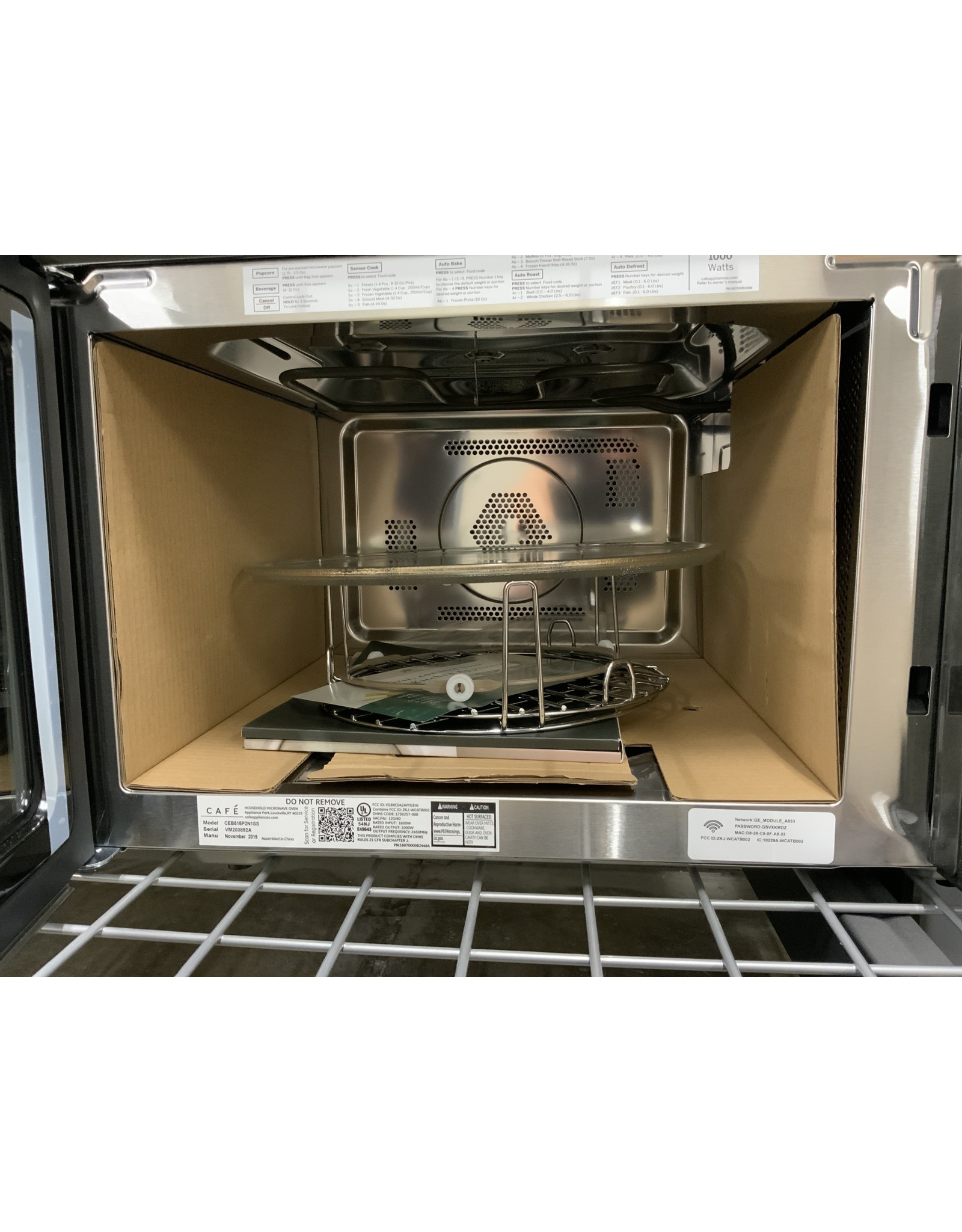 GE Cafe GE Cafe 1.5 Cu. Ft. Smart Countertop Convection/Microwave Oven