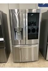 LG LG  23.3 cu. ft. French Door Refrigerator InstaView Door-In-Door, Dual and Craft Ice in PrintProof Stainless, Counter Depth