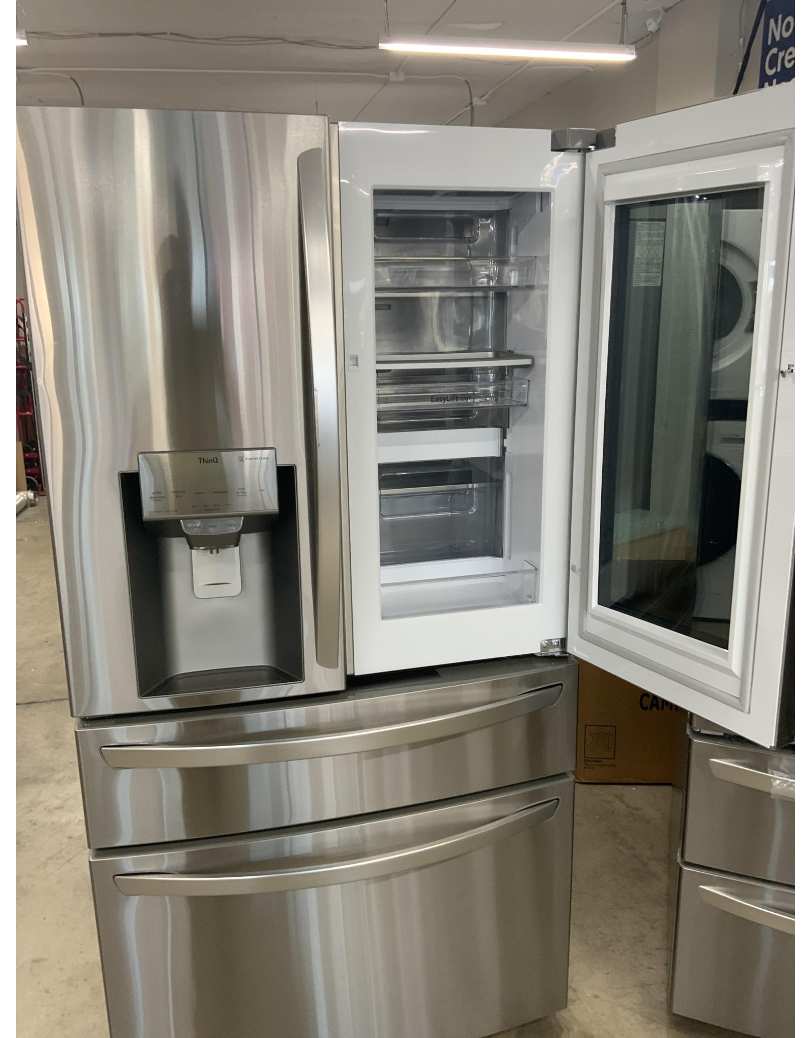 LG LG 22.5 cu. ft. Smart French Door Refrigerator InstaView Door-In-Door Dual and Craft Ice in PrintProof Stainless