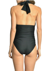 LENNY Ruched Halter One Piece