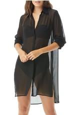 CARMEN MARC VALVO Saint Tropez Shirt Cover Up