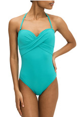 KATE SPADE Palm Beach Bandeau One Piece