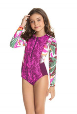 MAAJI GIRL Tiki Island Long Sleeve Reversible One Piece