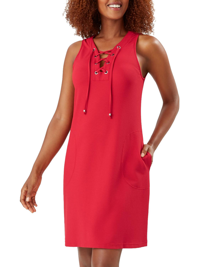 TOMMY BAHAMA Piqué Colada Lace-Up Dress