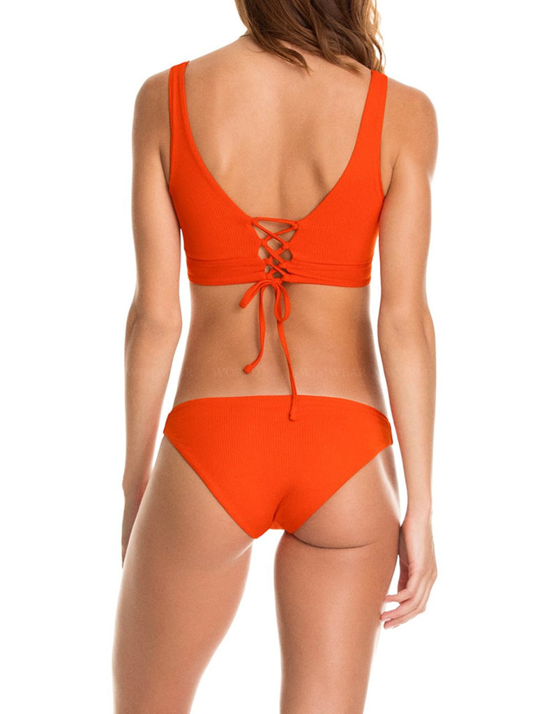 MAAJI WOMAN Ginger Orange Allure 4 Way Long Line Triangle Top