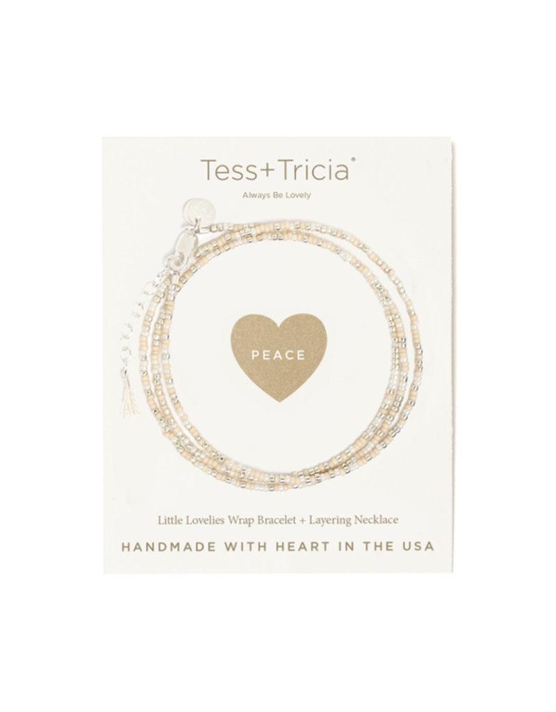 "TESS + TRICIA Little Lovelies ""Peace"" Carded Bracelet"