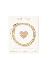 "TESS + TRICIA Little Lovelies ""Kindness"" Carded Bracelet"