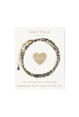 "TESS + TRICIA Little Lovelies ""Courage"" Carded Bracelet"