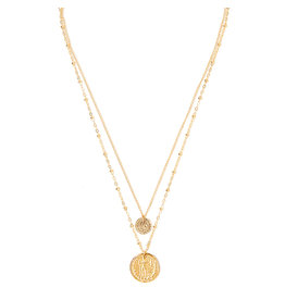 TESS + TRICIA Duo Coin Charm Necklace
