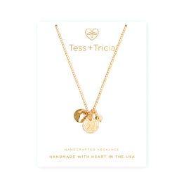 TESS + TRICIA Trio Charm Coin Necklace