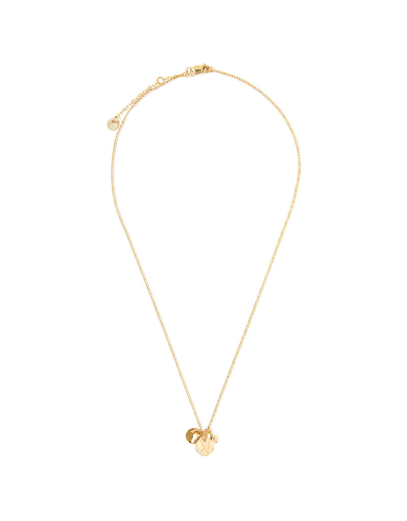TESS + TRICIA Trio Charm Coin Carded Necklace