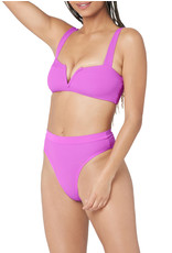 L SPACE Ribbed Frenchi Bottom