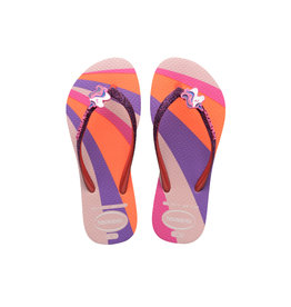 HAVAIANAS GIRL Slim Glitter Unicorn Sandal