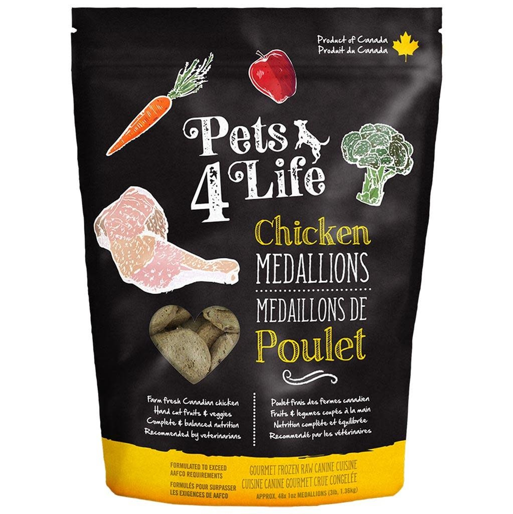 Pets 4 Life Chicken 1OZ Medallions 3LB (10)
