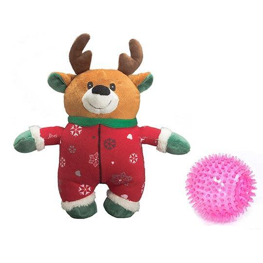 """XMAS Reindeer Prickle ball in Onsie 9"""""""