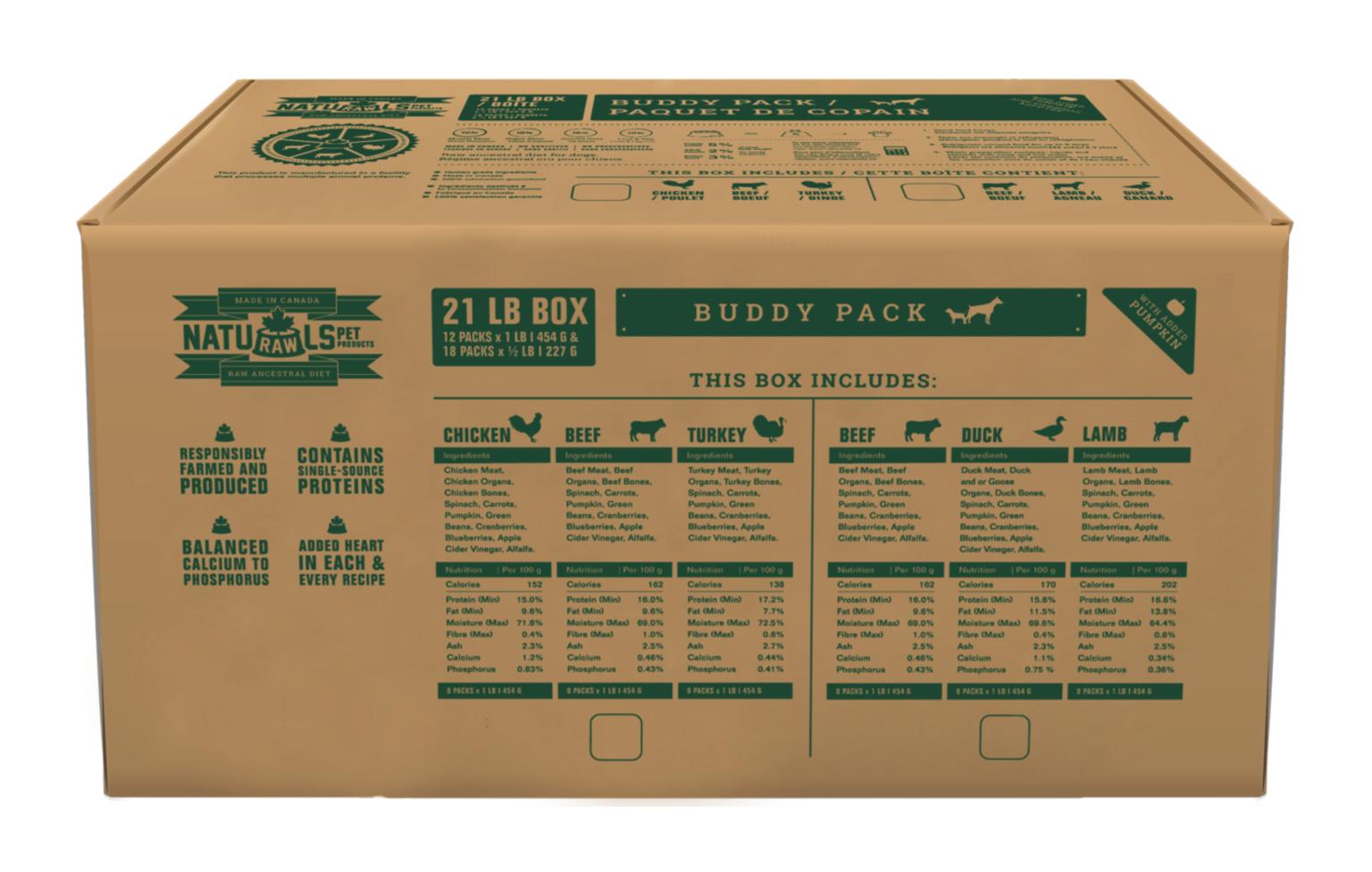 Buddy Pack Chicken/ Beef /Turkey Bulk