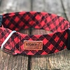 Goober Collar Red Plaid