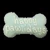 """Happy Pawlidays 6"""" Bone Card"""