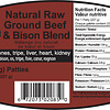 Spring Meadows  8 -.5lb Beef & Bison Blend (no fruit/veg)