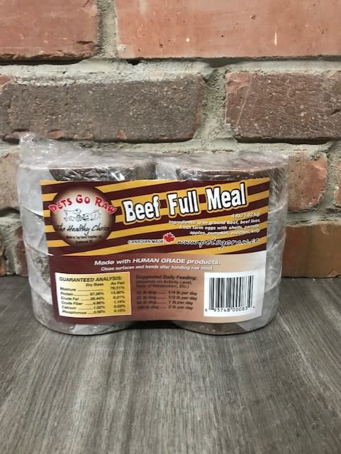 Beef Full Meal   4lbs (8-0.5lb patties)