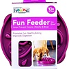 Outward Hound Fun Feeder Bowl Purple Med/Mini