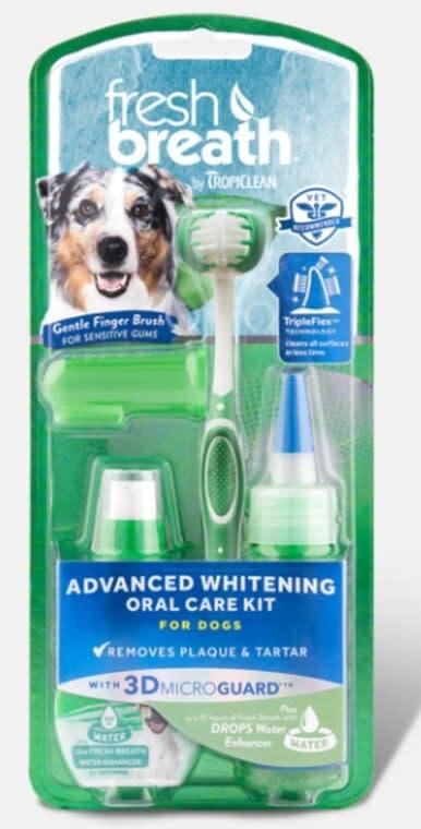 TropiClean Fresh Breath Total Care Brush Kit Large