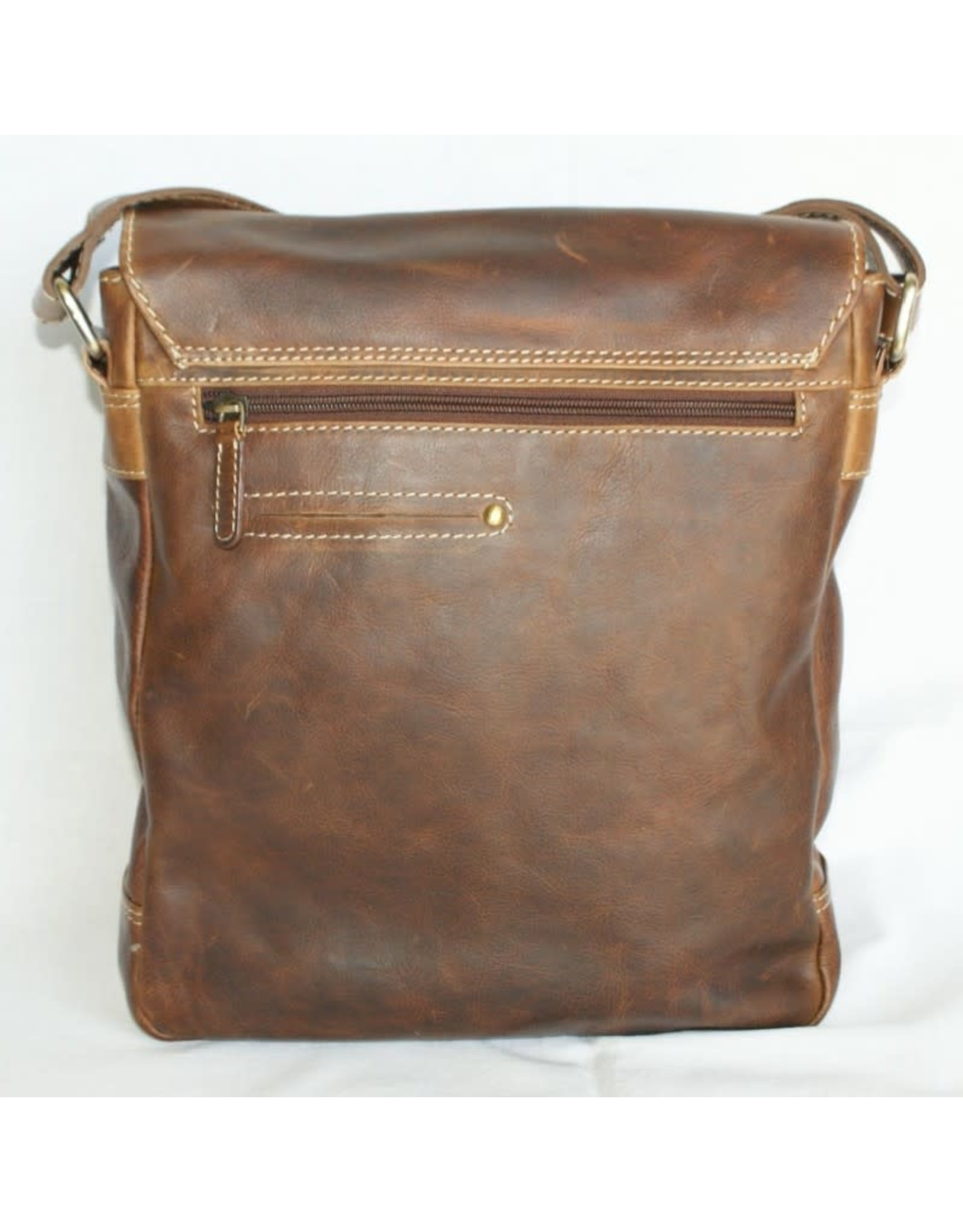 "Rugged Earth Rugged Earth Sac Messager 199006 Brown W 10""*H 12""*D 3 1/2"""