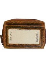 "Rugged Earth Rugged Earth 990003 Card Holder Brown W4 1/4""*H 4""*D1 1/4"""
