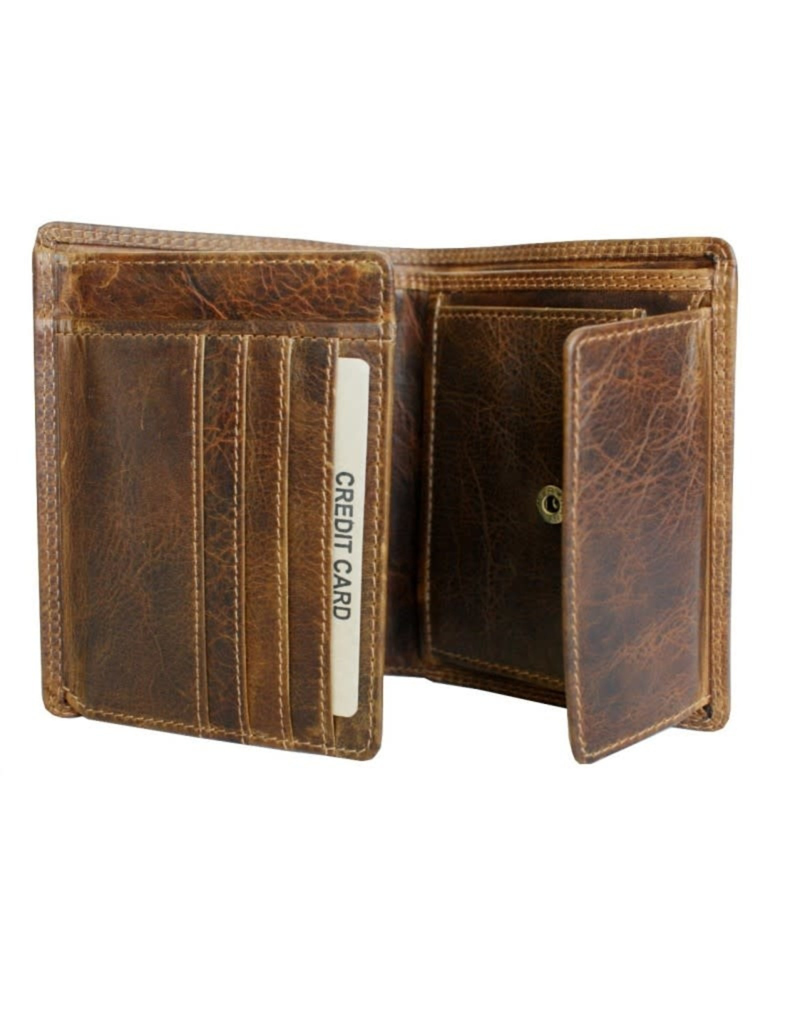 """Rugged Earth Rugged Earth 990005 Wallet Brown W4 1/4""""*H 5""""*D 1"""""""