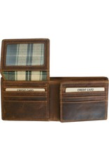 """Rugged Earth Rugged Earth 990012 Wallet Brown W 4 3/4""""*H3 3/4""""*D 1"""""""