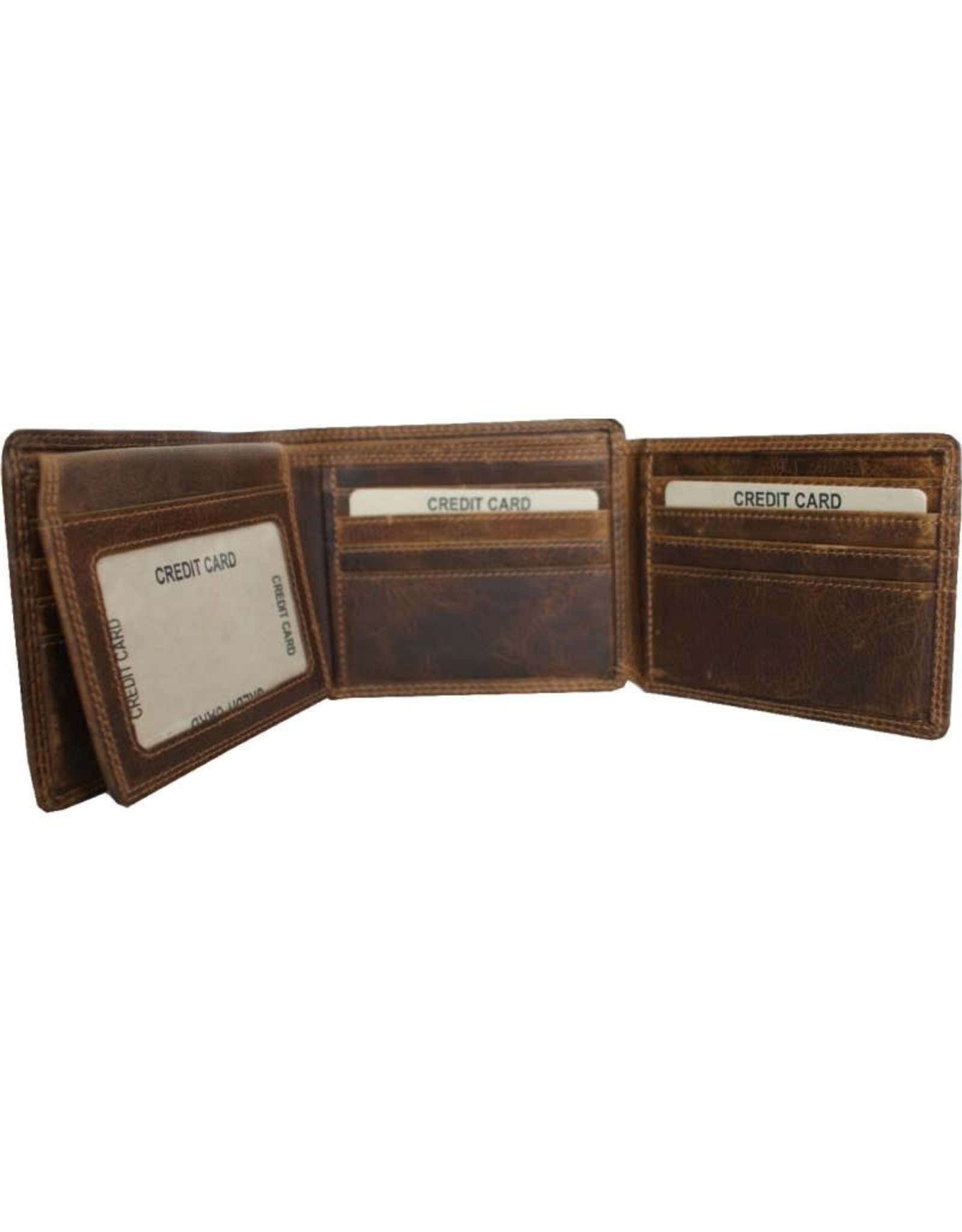 "Rugged Earth Rugged Earth 990012 Portefeuille Brown W 4 3/4""*H3 3/4""*D 1"""