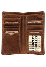 "Rugged Earth Rugged Earth 990013 Portefeuille  Brown W 7""*H3 3/4""*D 3/4"""