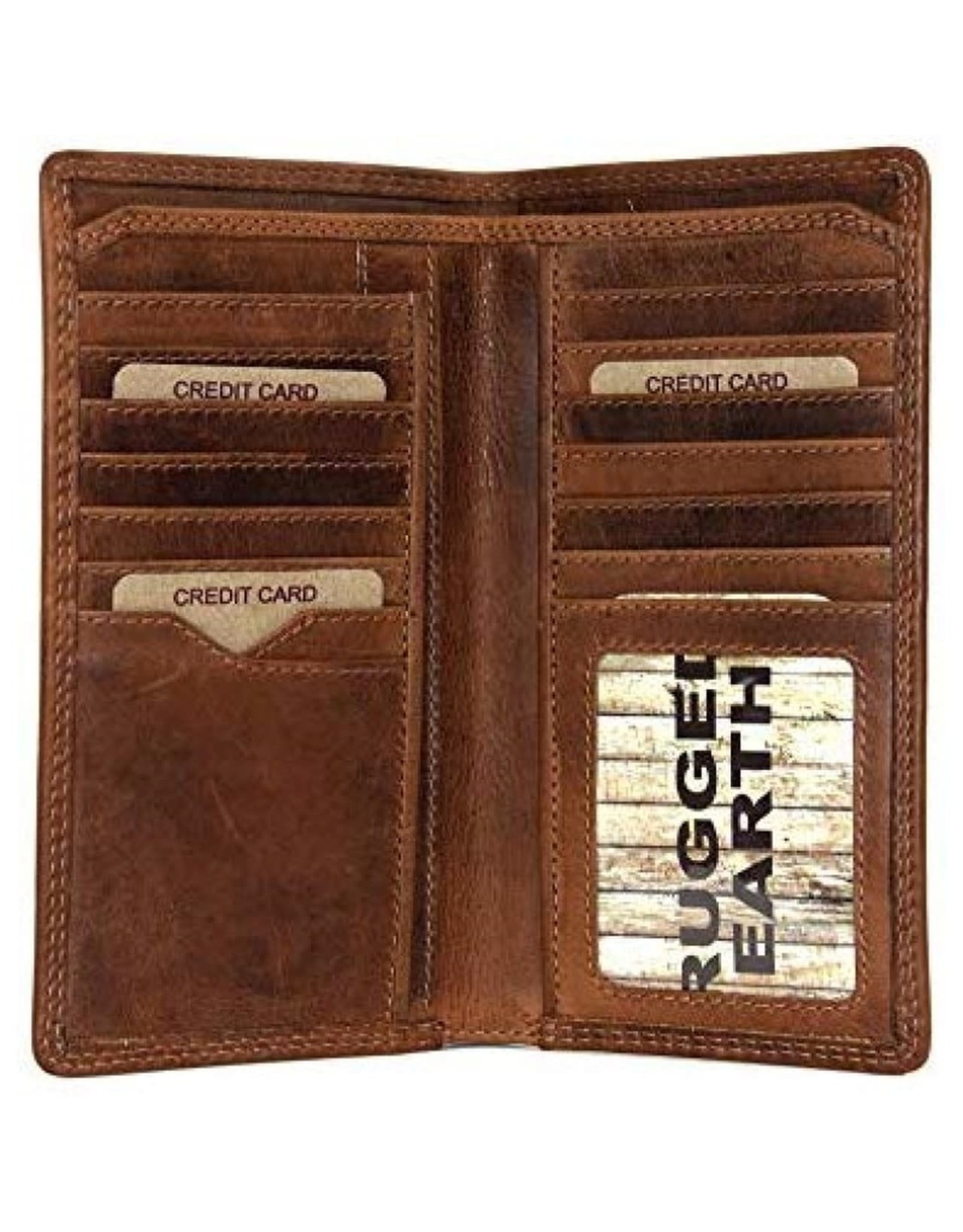 "Rugged Earth Rugged Earth 990013 Wallet Brown W 7""*H3 3/4""*D 3/4"""