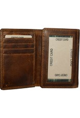 """Rugged Earth Rugged Earth 990006 Wallet Brown W3 1/2""""*H4 3/4""""*D1"""""""