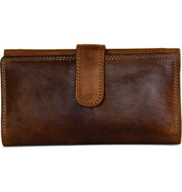 "Rugged Earth Rugged Earth 990014 Wallet Brown W 7.5""*H4""*D 1"""