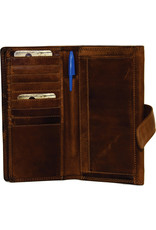 """Rugged Earth Rugged Earth Ladies Wallet 990014  Brown W 7.5""""*H4""""*D 1"""""""