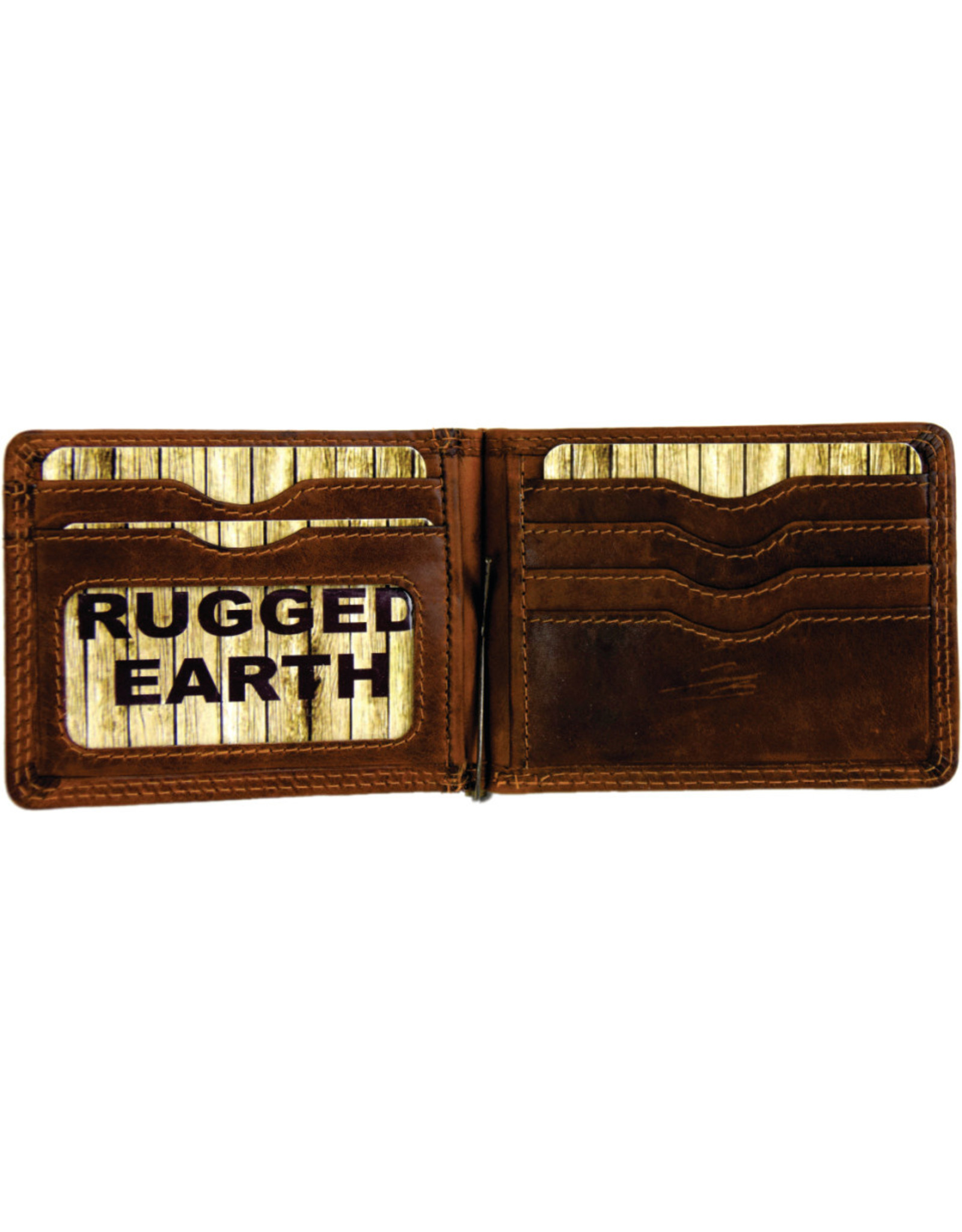 """Rugged Earth Rugged Earth  Money Clip Wallet 990018 Brown W 4.5""""H 3.25""""*D 3/8"""""""