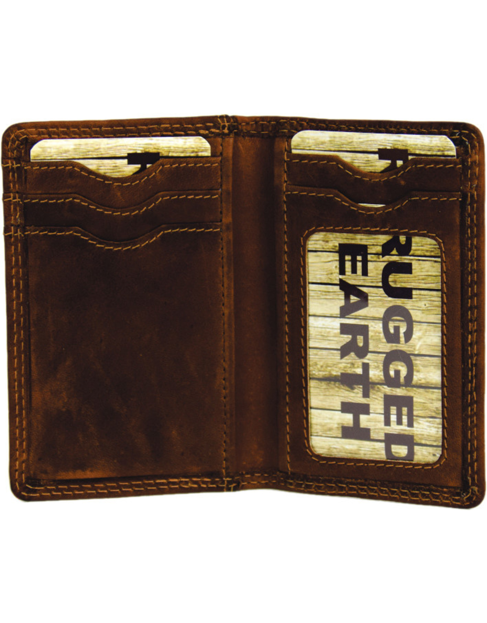 "Rugged Earth Rugged Earth Portefeuille 990019 Brown W 3""*H4.25""*D 3/8"""