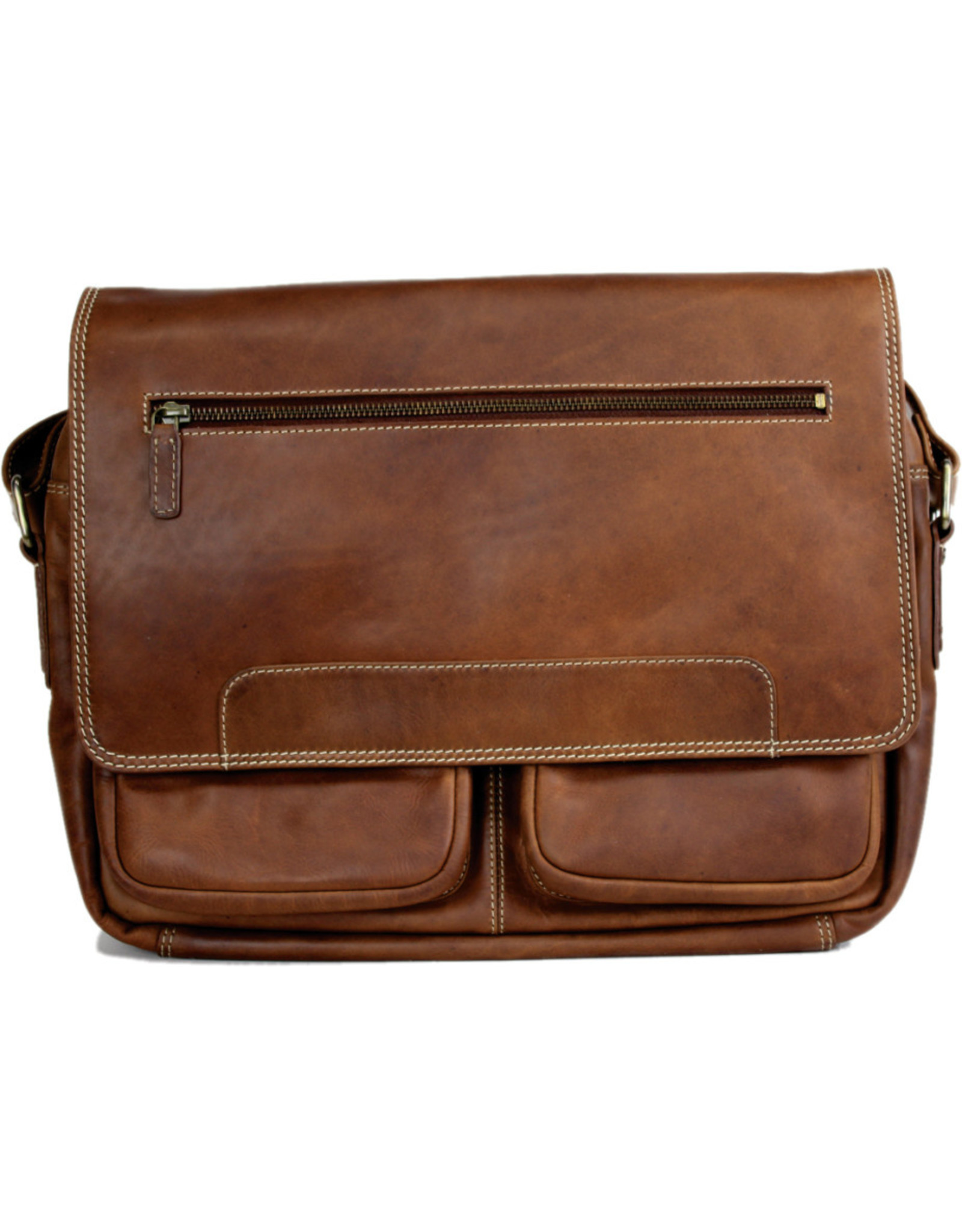 "Rugged Earth Rugged Earth Sac Messager 199033 Brown W 14""*H 12""*D 4"""