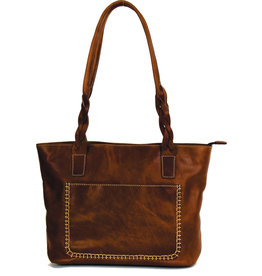 "Rugged Earth Rugged Earth Handbag with Top Zipper 199025 Brown W 14 3/4""*H 9 1/2""*D 4"""