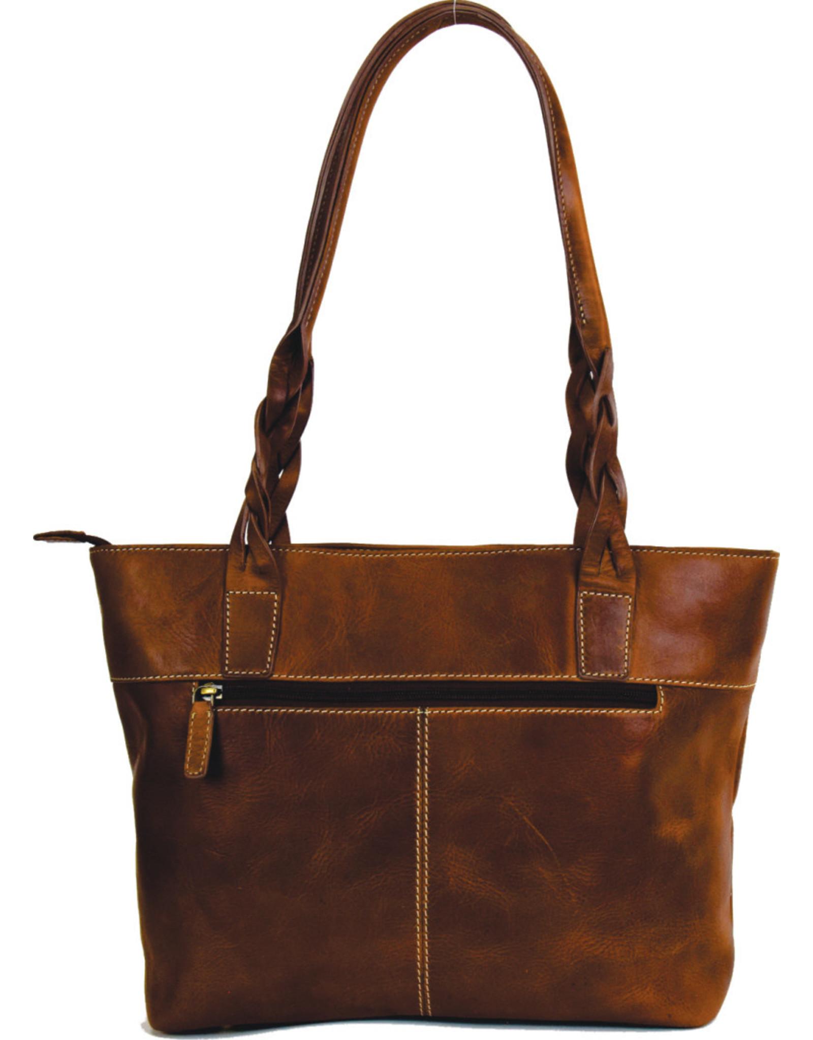 "Rugged Earth Rugged Earth Handbag with Top Zipper 199025 Brown W 14 3/4""*H 9 1/2""*D 4"""